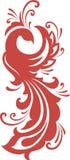 Silueta roja del firebird Imagen de archivo