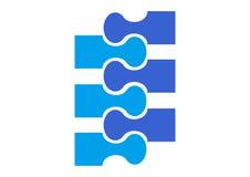 Silueta simple del símbolo de la cremallera Imagen de archivo