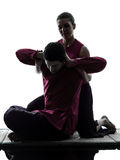 Silueta tailandesa del masaje Foto de archivo libre de regalías