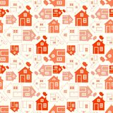 Silueta y esquema caseros dulces caseros de la casa Imágenes de archivo libres de regalías