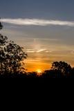 Silueta y salida del sol foto de archivo