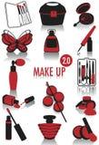 Siluetas 2 del maquillaje Fotografía de archivo libre de regalías