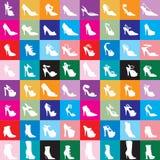 Siluetas 2 del zapato Fotografía de archivo libre de regalías