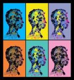 Siluetas abstractas coloridas de la cabeza humana ilustración del vector