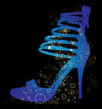 Siluetas de los zapatos Imagen de archivo