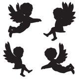 Siluetas de ángeles Imagenes de archivo