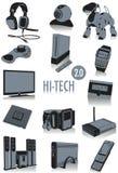 Siluetas de alta tecnología 2 Fotos de archivo libres de regalías