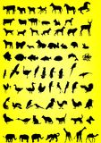 Siluetas de animales Imágenes de archivo libres de regalías