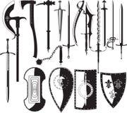 Siluetas de armas Foto de archivo libre de regalías
