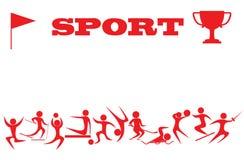 Siluetas de deportistas Imagen de archivo libre de regalías
