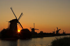 Siluetas de Holanda imagen de archivo