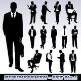 Siluetas de hombres de negocios Fotografía de archivo libre de regalías