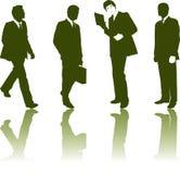 Siluetas de hombres de negocios stock de ilustración