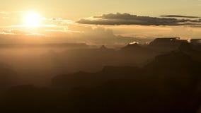 Siluetas de la barranca magnífica Foto de archivo libre de regalías