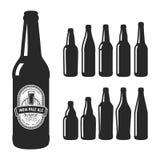 Siluetas de la cerveza del arte del vector Imagenes de archivo