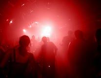 Siluetas de la gente del baile Foto de archivo