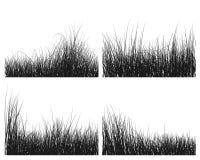 Siluetas de la hierba fijadas Foto de archivo libre de regalías