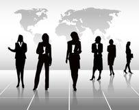 Siluetas de la mujer de negocios Imagen de archivo libre de regalías