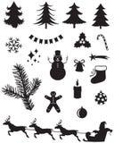 Siluetas de la Navidad libre illustration