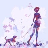 Siluetas de la serie en color de la lila. Styl de la acuarela libre illustration