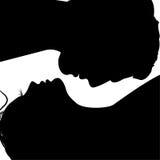 Siluetas de las caras del hombre y de la mujer libre illustration