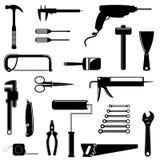 Siluetas de las herramientas Fotografía de archivo libre de regalías
