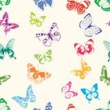Siluetas de las mariposas Fotografía de archivo