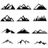 Siluetas de las montañas Fotografía de archivo libre de regalías