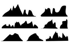 Siluetas de las montañas en el fondo blanco libre illustration