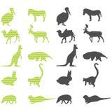 Siluetas de los animales Fotografía de archivo libre de regalías