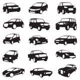 Siluetas de los coches Fotografía de archivo
