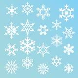 Siluetas de los copos de nieve Fotos de archivo libres de regalías