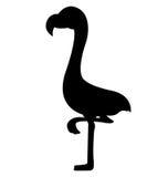 Siluetas de los pájaros del flamenco Imagen de archivo libre de regalías