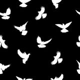 Siluetas de los pájaros - modelo inconsútil que vuela Rebecca 36 stock de ilustración