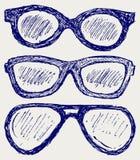 Siluetas de los vidrios Foto de archivo