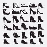 Siluetas de los zapatos - ejemplo Fotos de archivo