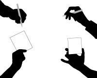 Siluetas de manos ilustración del vector