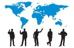 Siluetas de muchos hombres de negocios ilustración del vector
