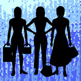 Siluetas de mujeres stock de ilustración