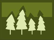 Siluetas del árbol Imagen de archivo libre de regalías