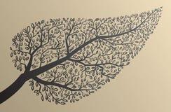 Siluetas del árbol. Forma de hoja. Ejemplo del vector. Imágenes de archivo libres de regalías