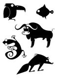 Siluetas del animal del arte Imagenes de archivo