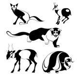 Siluetas del animal del arte Foto de archivo