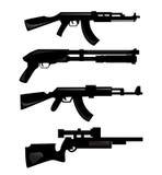 Siluetas del arma Fotografía de archivo libre de regalías