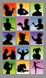 Siluetas del avatar de la profesión Imagenes de archivo