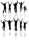 Siluetas del baile Fotos de archivo libres de regalías