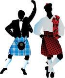 Siluetas del escocés Fotos de archivo