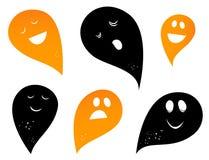 Siluetas del fantasma. Foto de archivo