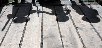 Siluetas del Gunfighter Imagen de archivo libre de regalías