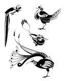 Siluetas del pájaro del arte Foto de archivo libre de regalías